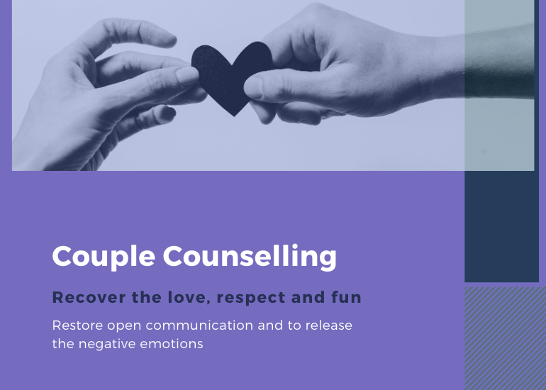 Couples Counselling. Recover love, respect and fun.