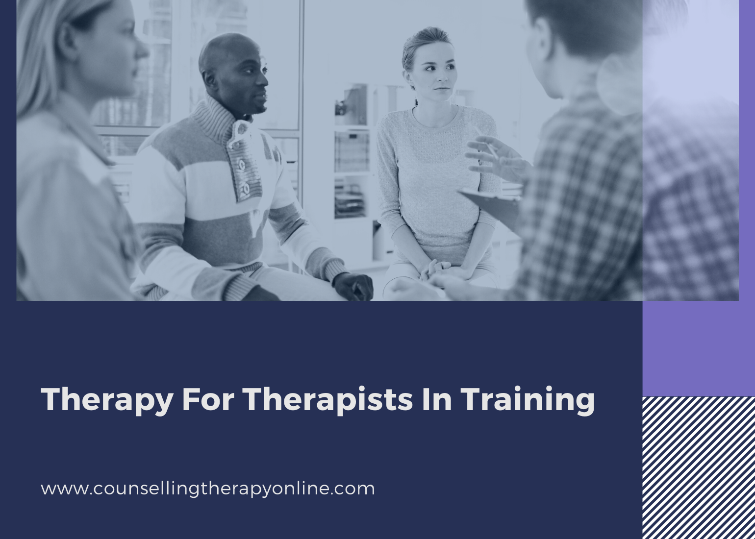 Online therapy for therapists in training