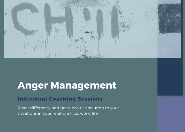 Anger Management. Individual coaching sessions for solutions.
