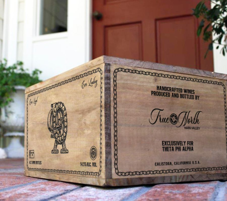custom True North wine box image