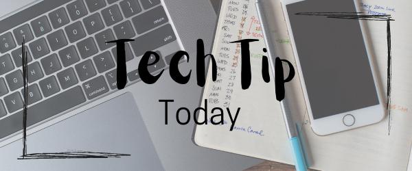 Decorative Image: Tech-Tip