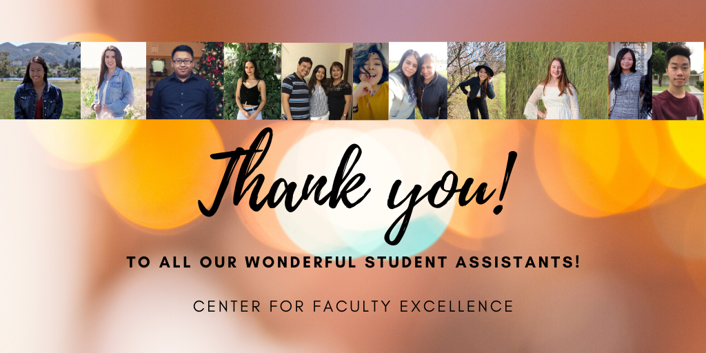 Decorative Image: Thank you to all our wonderful student assistants!