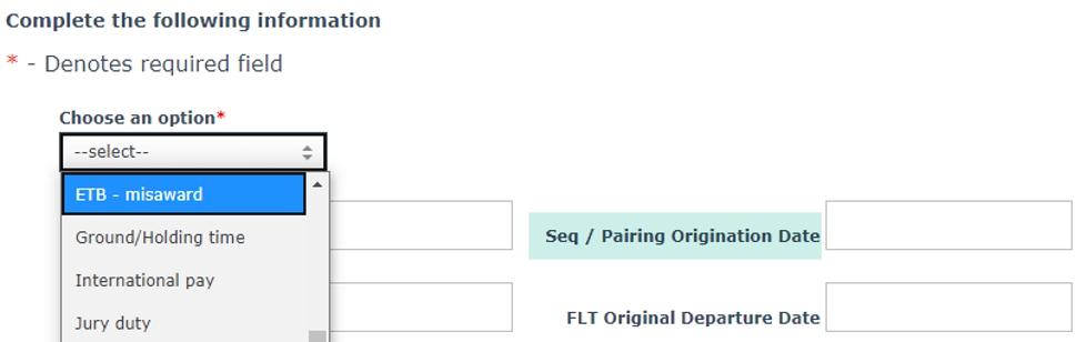 Select ETB-Misaward