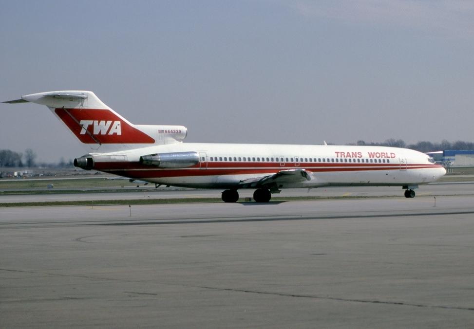 TWA aircraft on the runway