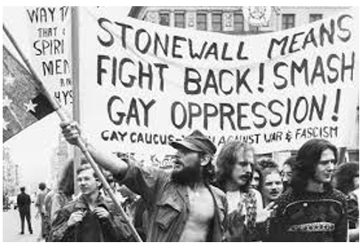 Group of people at Stonewall protest