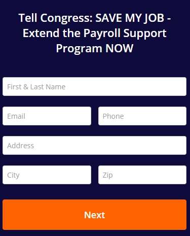 Click to contact your representative about the Payroll Support Program