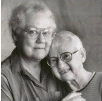 Barbara Gittings and partner Kay Lahusen