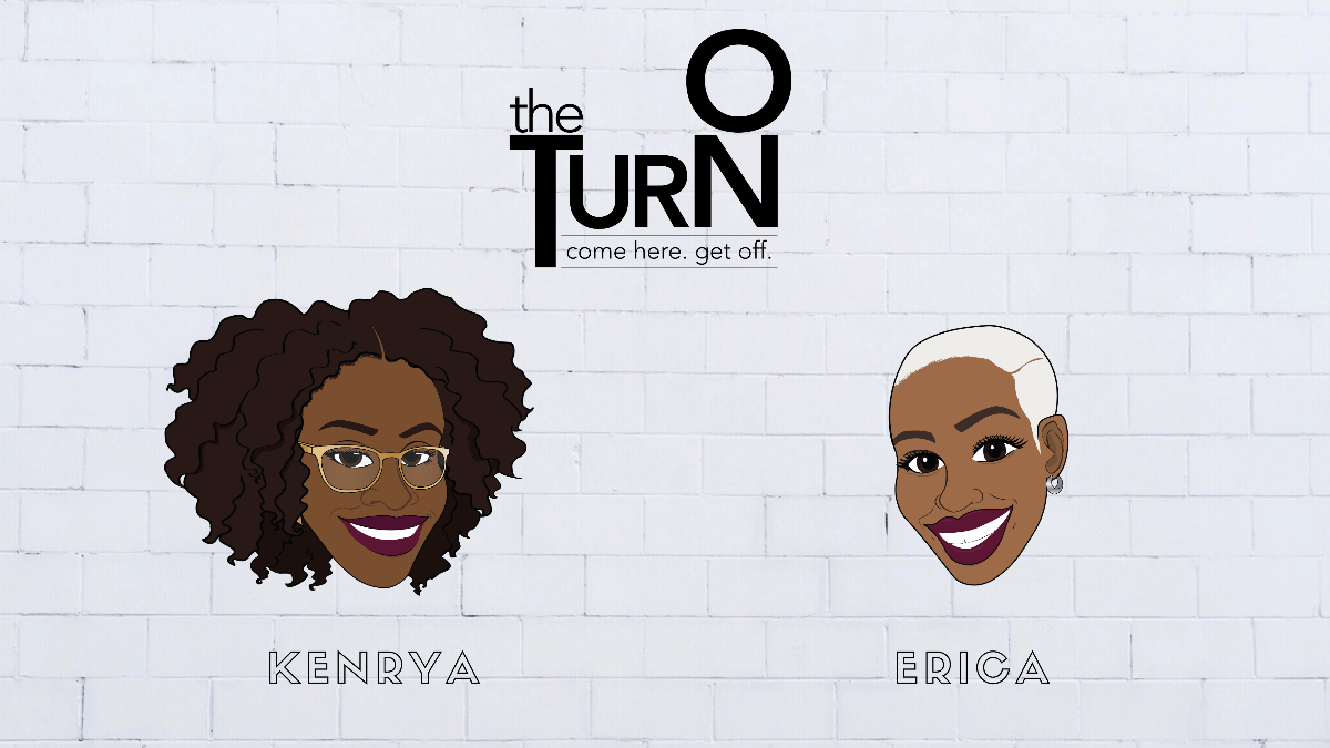Illustrated likenesses of two Black women—Kenrya and Erica—in front of a white brick wall.