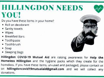 Hillingdon Needs You graphic