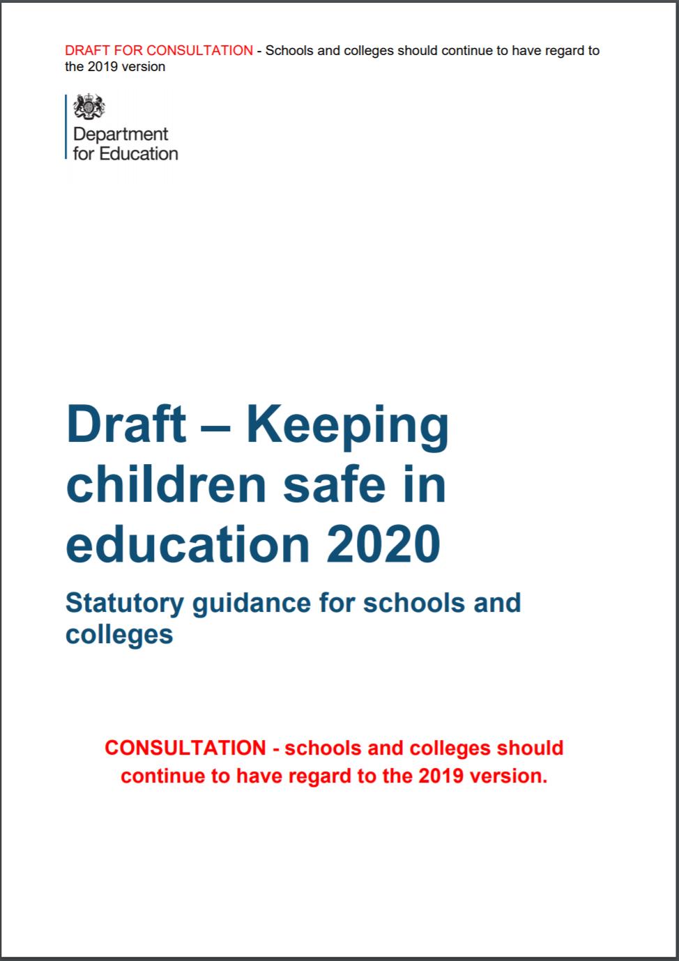 Draft KCSiE cover