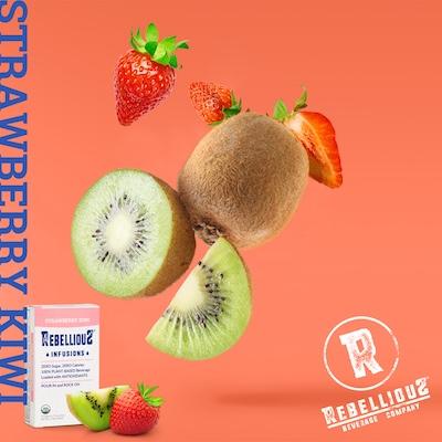 Strawberries and Kiwis Falling thru Air