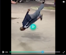 Video Still of a Man Falling off Skateboard