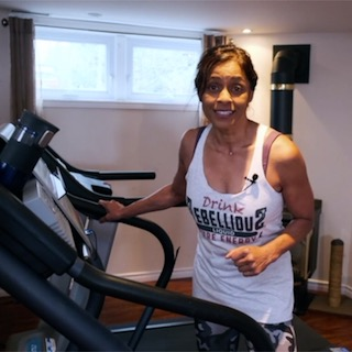 Ramona Braganza on Treadmill