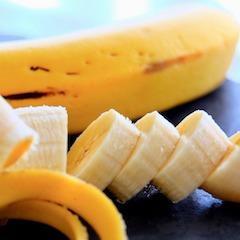 Whole Banana and Sliced Banana