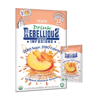 Rebellious Infusions—Peach 12-pack and Packet