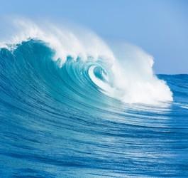 Wave breaking off a beach in Costa Rica.