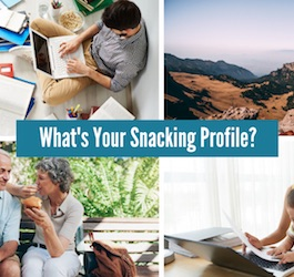 Group of Photos Showing People Snacking in Different Situations