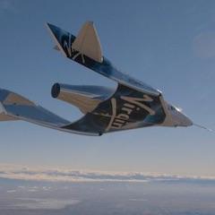 Virgin Galactic Spaceship in Flight