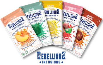 Five Rebellious Infusions Liquid Packets Fanned Out
