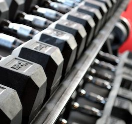 Rack of Curling Weights