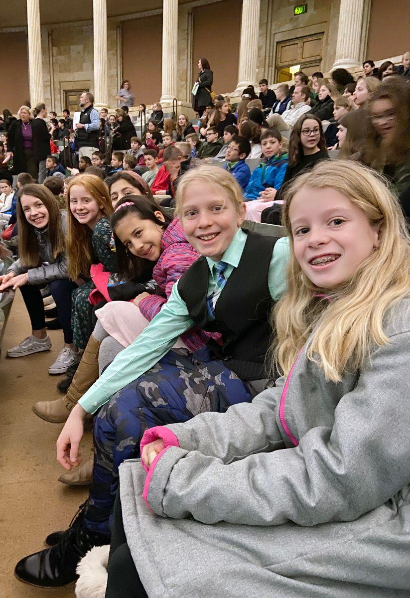 Students attending TSO performance