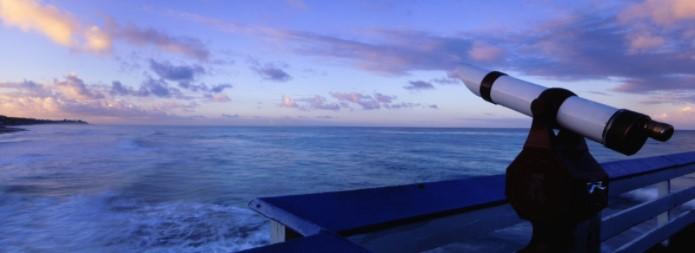 telescope and horizon