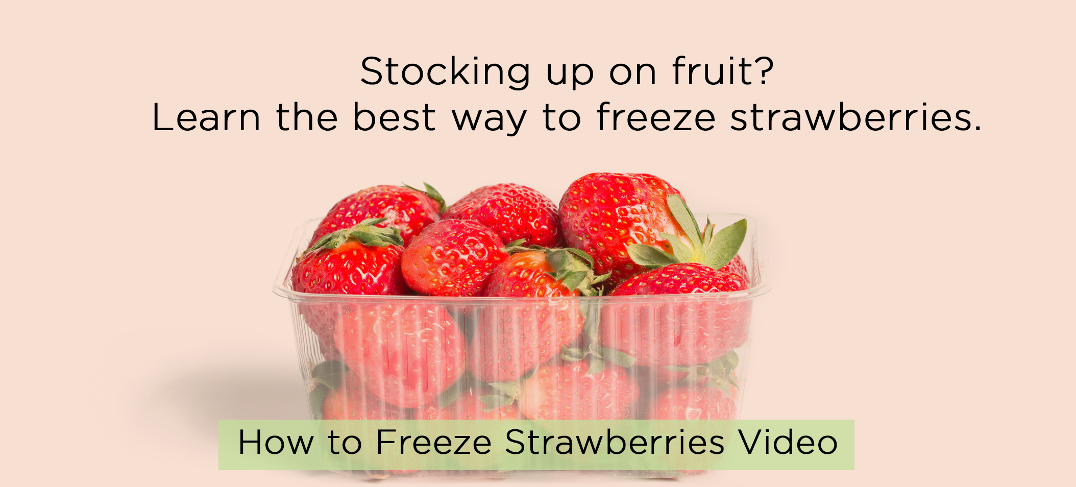 Stocking up on fruit? How to freeze strawberries video