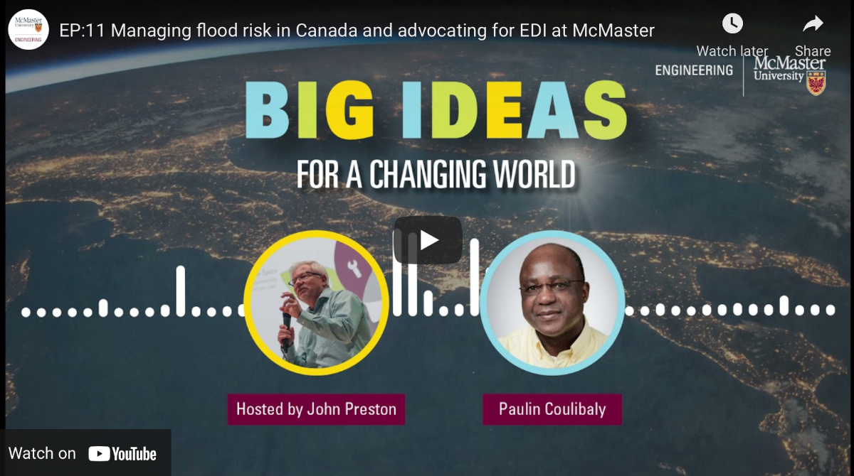 Meet Paulin Coulibaly, champion of water research in Canada and equity, diversity and inclusion at McMaster on Episode 11