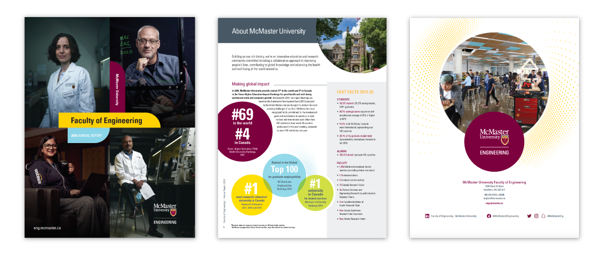 Read McMaster Engineering's 2019-20 Annual Report online!