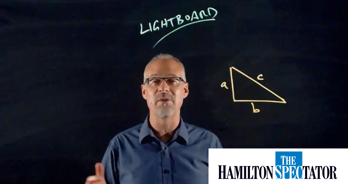 The writing is on the glass: Hamilton company's Lightboard called 'next level' learning tech