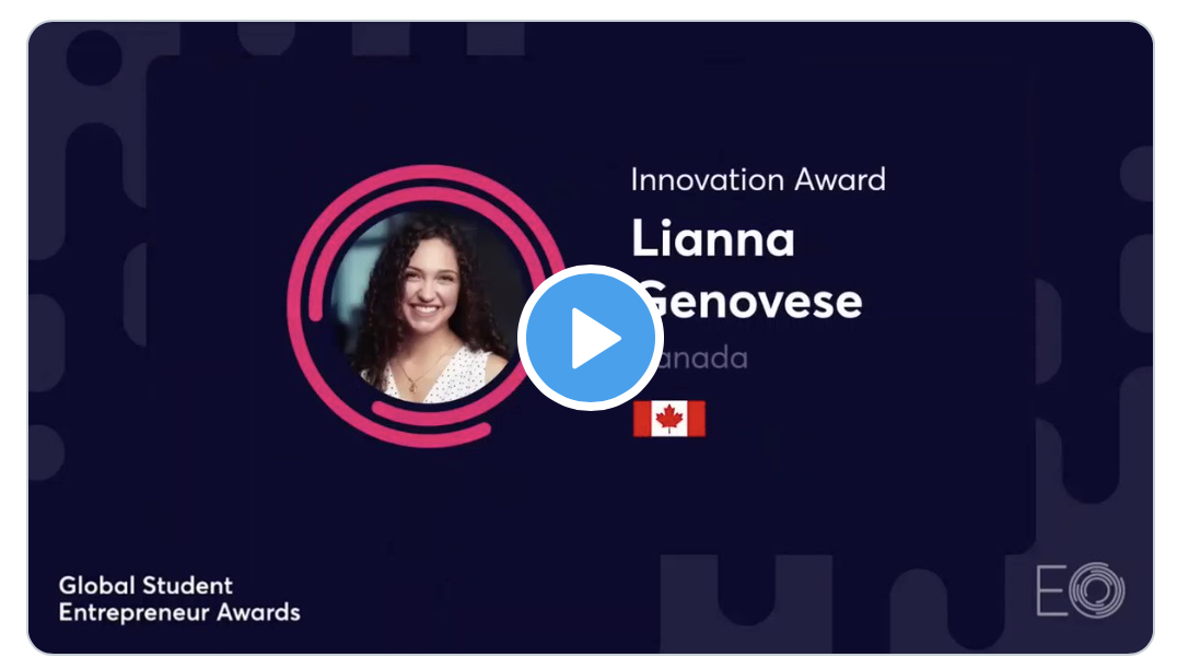 Our CEO & Founder Lianna Genovese represented Canada and brought home the Global Innovation Award at the 2021 Global Student Entrepreneur Awards hosted by the @EO_GSEA!! We are proud to promote the passionate & strength of #WomenInSTEM & #WomenEntrepreneurs 💪 @McMasterEng pic.twitter.com/UpBC8KRq3Y  — ImaginAble Solutions (@ImaginAbleSlns) May 7, 2021