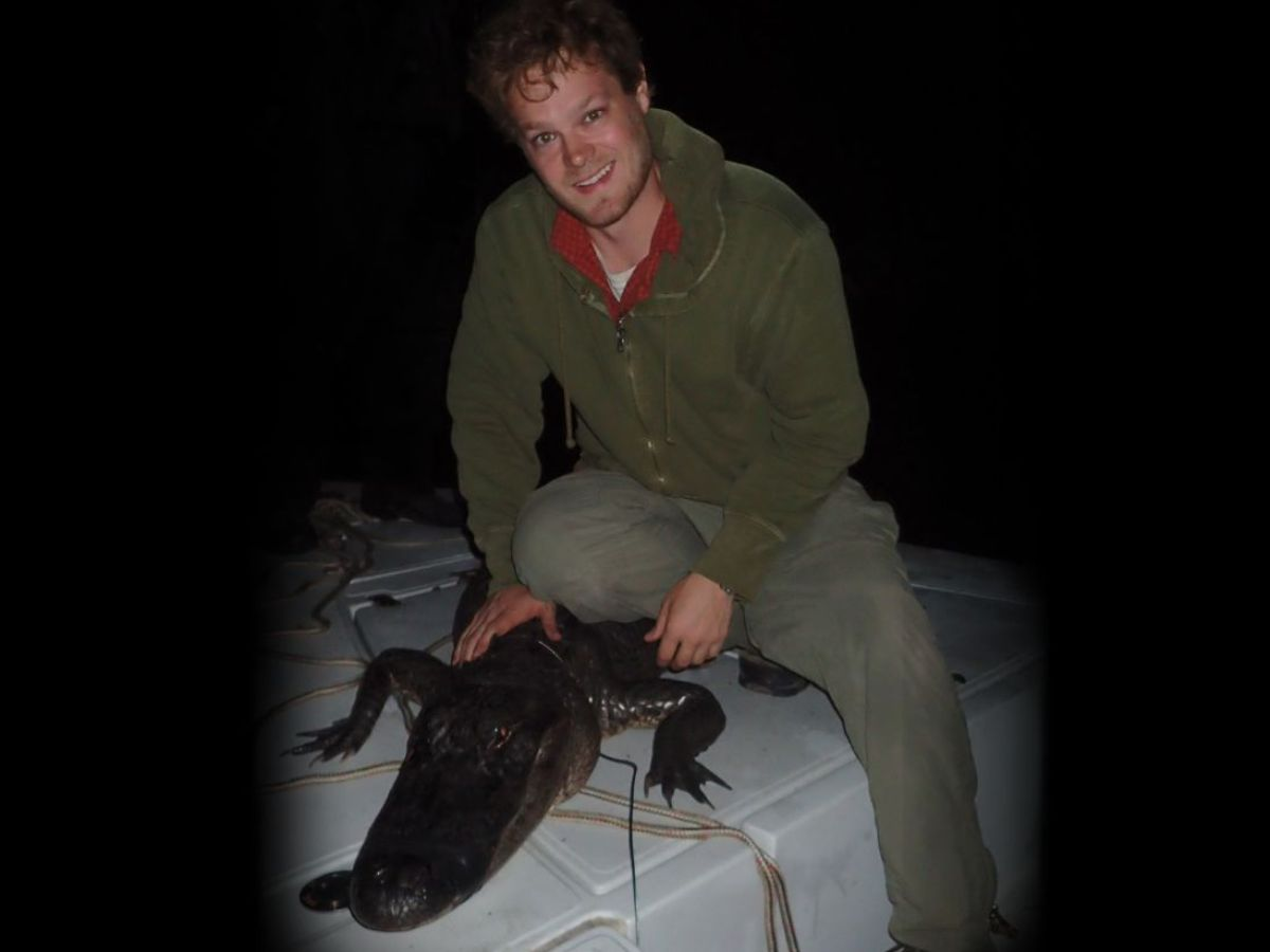 Bradley Strickland with alligator