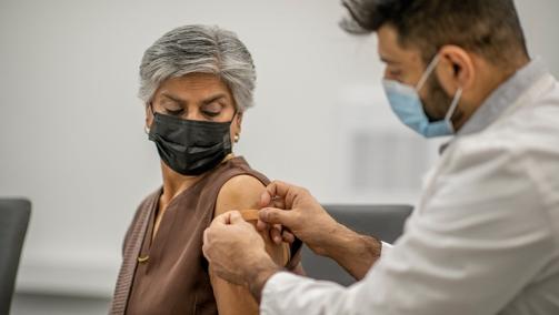 vaccinated senior