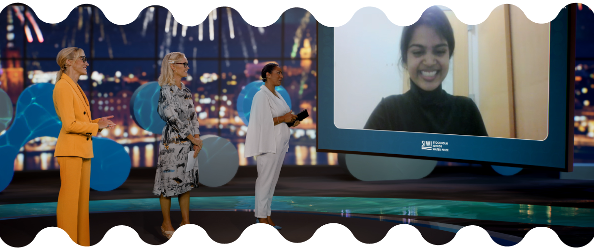 Stockholm Junior Water Prize is awarded to Young American researcher Eshani Jha  on Center stage at World Water Week 2021