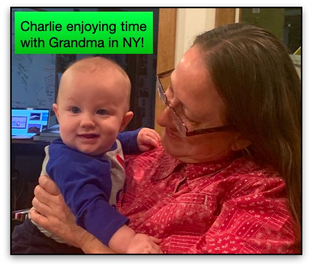 Charlie with Grandma in NY