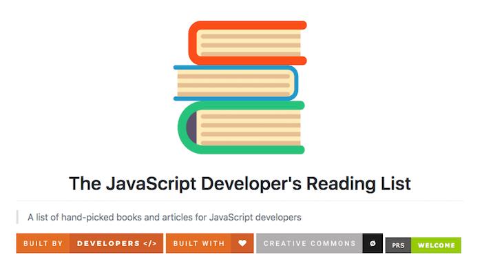 The JavaScript Developer's Reading List