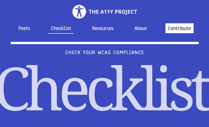 Accessibility Checklist
