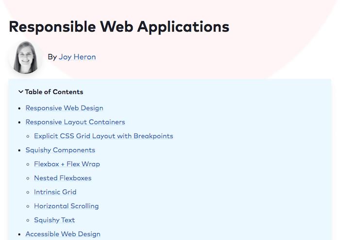 Responsible Web Applications