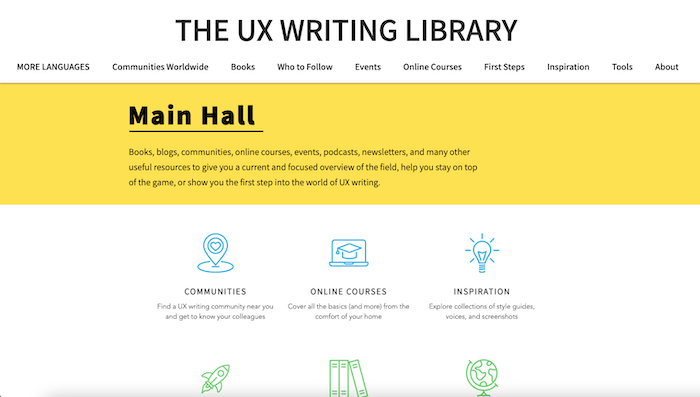 The UX Writing Library