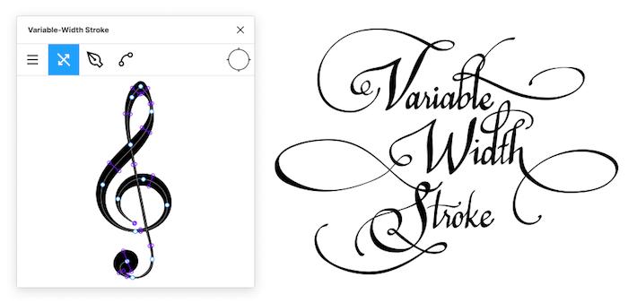 Variable-Width Stroke
