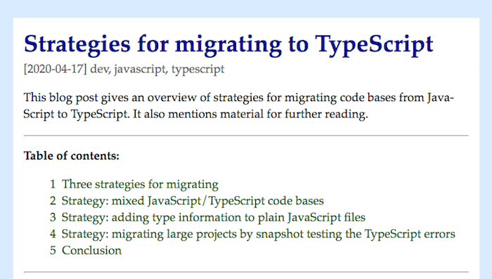 Strategies for migrating to TypeScript