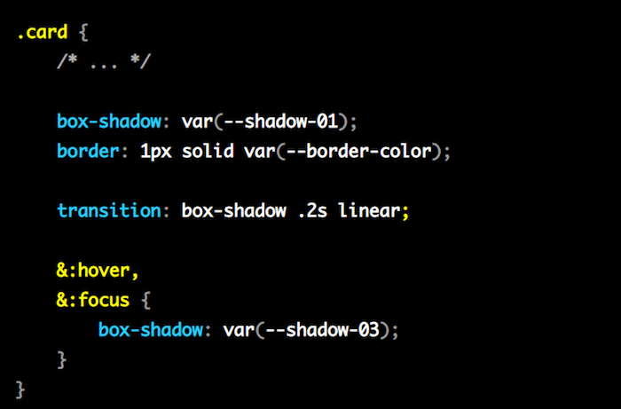 Global and Component Style Settings with CSS Variables