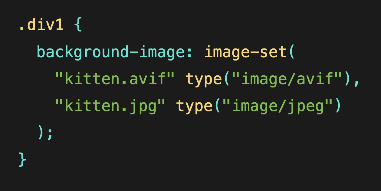Using Performant Next-Gen Images in CSS with image-set
