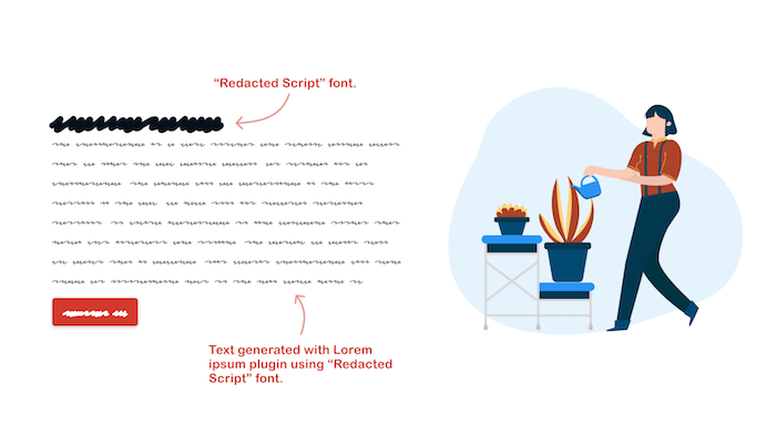 Redacted font