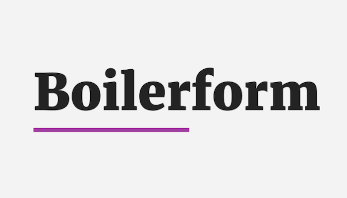 A Boilerplate For Web Forms