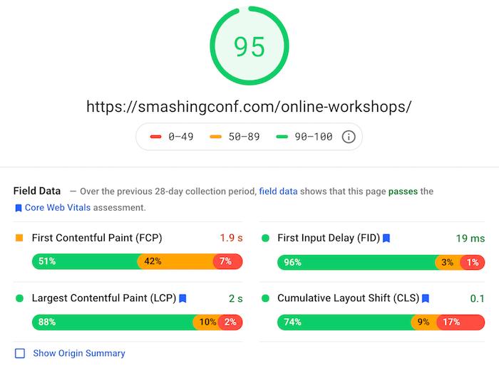 SmashingConf site performance