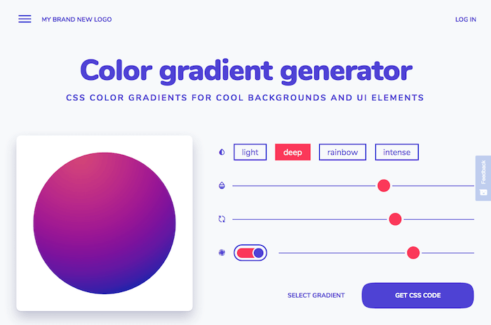 Color gradient generator