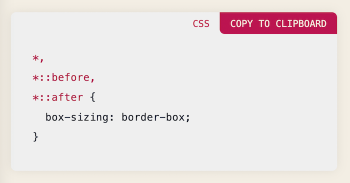 The New CSS Reset
