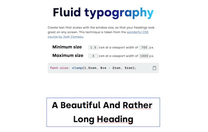 Fluid Typography