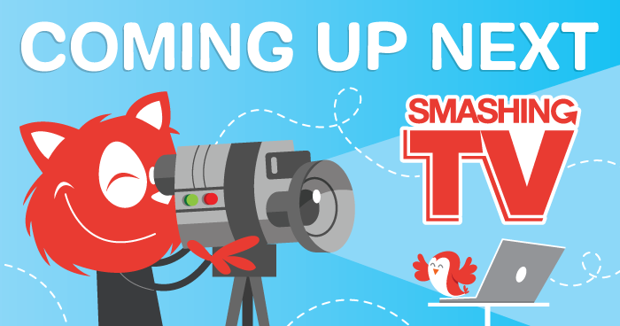 Topple busy recording new content for Smashing TV